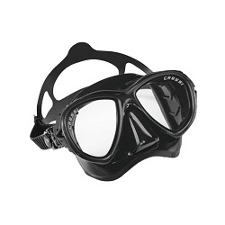 Cressi Mask - BIG-EYES Evolution - Black Silicone - HD Mirrored Lenses