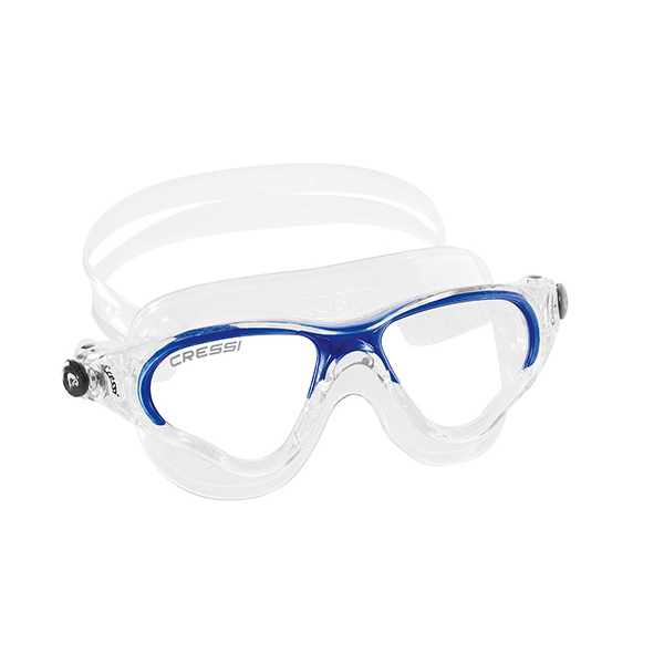 Cressi Cobra Swim Mask - Clear/Blue