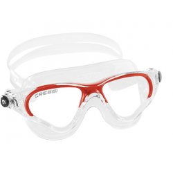 Cressi Cobra Swim Mask - Clear/Red