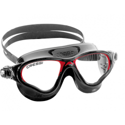 Cressi Cobra Swim Mask - Black/Red