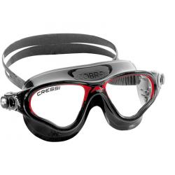 Cressi Cobra Swim Goggle - Black/Red