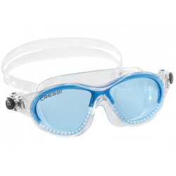 Cressi Cobra Kid Swim Mask - Clear/Azure lenses