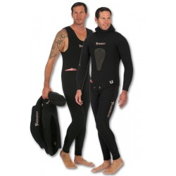 Imersion Wetsuit - Seriole Black - Super Stretch 7mm (Jacket + Long-John Pant)