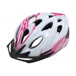 Apex Helmet 1330 - White/Pink 54/58cm