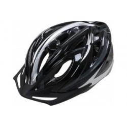 Apex Helmet 1330 - Black/Silver 54/58cm