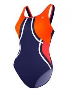 Aquasphere Swimsuit - Tequila - Navy Blue/Bright Orange