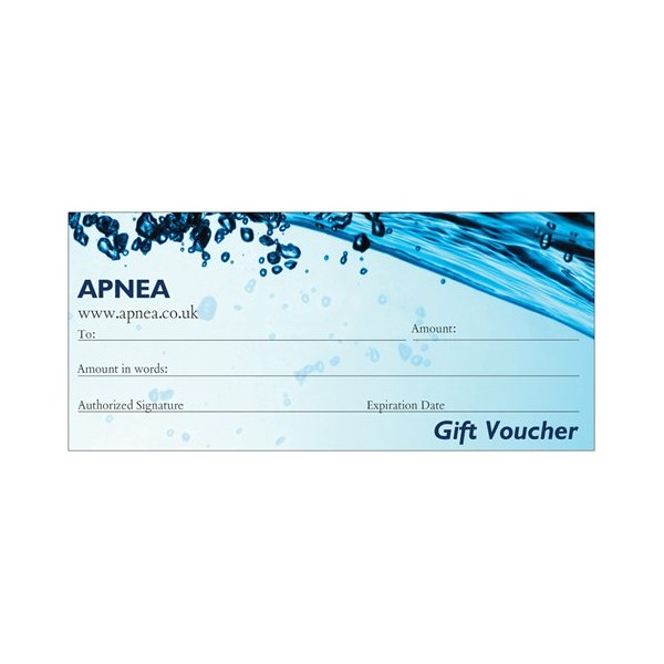 APNEA GIFT VOUCHER - £10