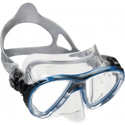 Cressi Mask - BIG-EYES Evolution - Clear Silicone - Blue Frame