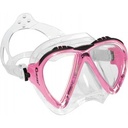 Cressi Mask - Lince - Clear Silicone - Pink Frame