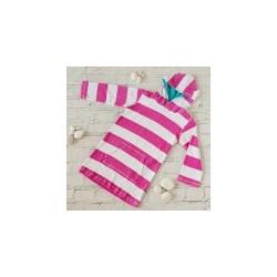 Big Fisch - Towelling Top - Kids - Pink Stripe