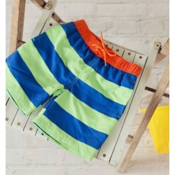 Big Fisch - Shorts - Boys - Striped - Royal/Lime