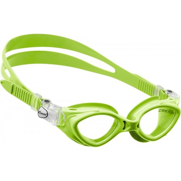 Cressi King Crab Kid Swim Goggle - Lime