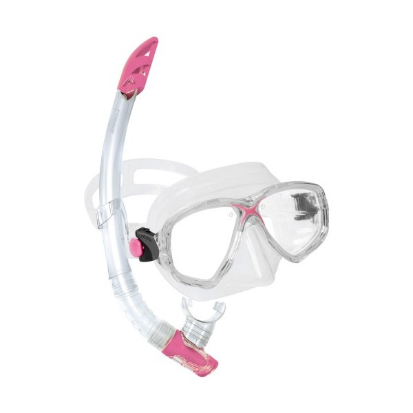 Cressi Mask & Snorkel Set - Marea VIP - Clear/Pink