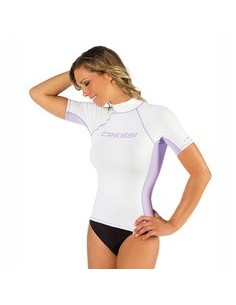 Cressi Rash Guard - Short Sleeve - Womens - White