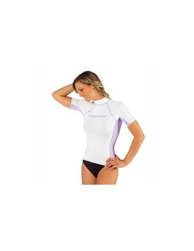 Cressi Rash Guard - Short Sleeve - Womens - White