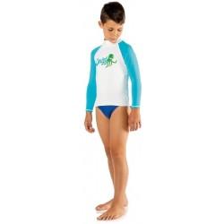 Cressi Rash Guard - Junior Long - Blue Octopus