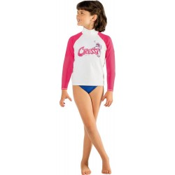 Cressi Rash Guard - Junior Long - Pink Seahorse