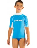 Cressi Rash Guard - Junior Short Sleeve- Blue