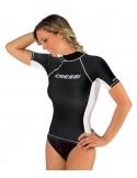 Cressi Rash Guard - Short Sleeve - Womens - Black