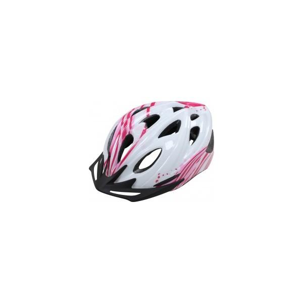 Apex Helmet L330 - White/Pink 54/58cm