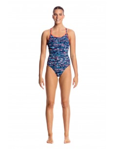 Funkita - Swimsuit - Ladies - Lotsa Dots - Diamond Back One Piece