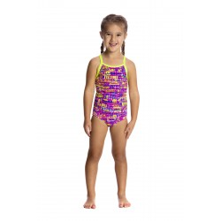 Funkita - Swimsuit - Toddler - Printed One Piece -Dotty Dash