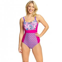 Zoggs - Swimsuit - Havana Poolside Side Panel - Multi/Pink
