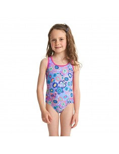 Zoggs - Swimsuit - Kids - Wild Action back - Lilac/Multi