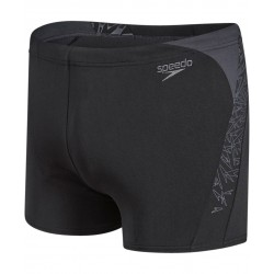 Speedo - Swim - Mens - Boom Splice Aquashort - Black/Grey