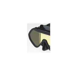 Riffe Mask - Frameless-Black Silicone-Amber lens