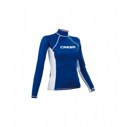 Cressi Rash Guard - Long Sleeve - Womens - Blue
