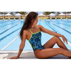 Funkita - Swimsuit - Ladies - Midnight Marble - Strapped in One Piece