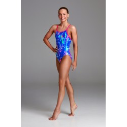 Funkita - Swimsuit - Girls - Marble Moon - Diamond Back One Piece