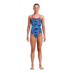 Funkita - Swimsuit - Girls - Meshed Up - Diamond Back One Piece