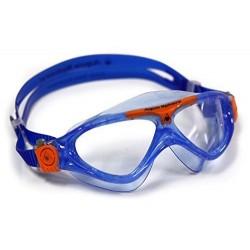 Aquasphere Vista Junior Swim Mask - Blue/Orange/Clear