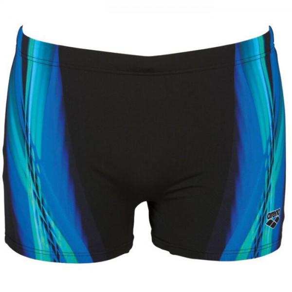 Arena - Swim - Mens - Iridiscent Short - Black/Turquoise