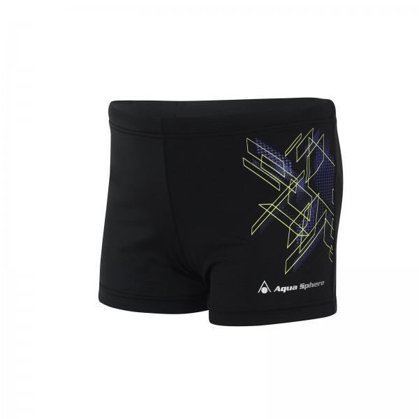 Aquasphere Swim Short - Kids - Yoshi - Black/Purple