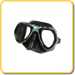 Beuchat Mask - Micro Max - Black Silicone / Camo Frame - Clear Lenses