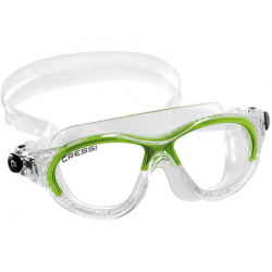 Cressi Cobra Kid Swim Mask - Clear/Lime