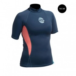 GUL Rashguard - Swami - Short-Sleeved - Womens - Navy/Coral