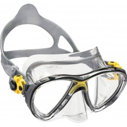 Cressi Mask - BIG-EYES Evolution - Clear Silicone - Yellow Frame