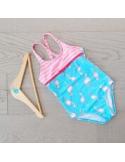Big Fisch - Swim Suit - Girls - Flamingo