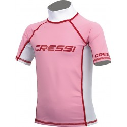 Cressi Rash Guard - Junior Short Sleeve- Pink