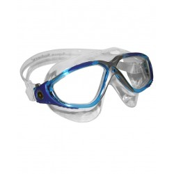 Aquasphere Vista Swim Mask - Aqua/Blue/Silver/Clear