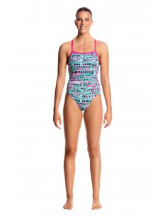 Funkita - Swimsuit - Ladies - Minty Madness - Strapped in One Piece