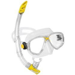 Cressi Mask & Snorkel Set - Marea VIP - Clear/Yellow