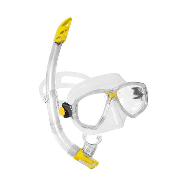 Cressi Mask & Snorkel Set - Marea VIP - Clear/Yellow