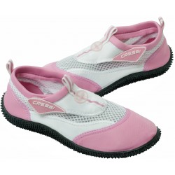 Cressi Reef Beach Shoes - Adults - White/Pink