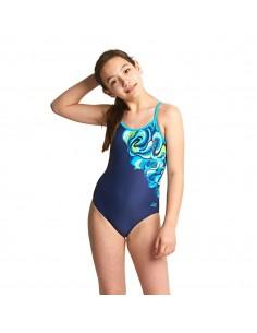 Zoggs - Swimsuit - Junior - Tie Marbling Sprintback - Navy/Multi