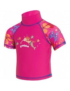 Zoggs - Mermaid Flower Sun Top - Kids - Pink
